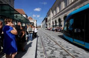 e tramway de Besançon est annoncé comme le moins cher de France. ©Jean-Charles Sexe - Ville de Besançon.