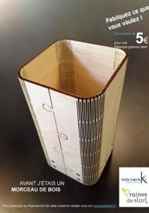 La campagne de financement participatif de la Kelle Fabrik de Dijon rendait explicite le type de matériaux utilisables.